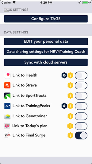 Integration with HRV4Training – Sync HRV and Resting HR Data