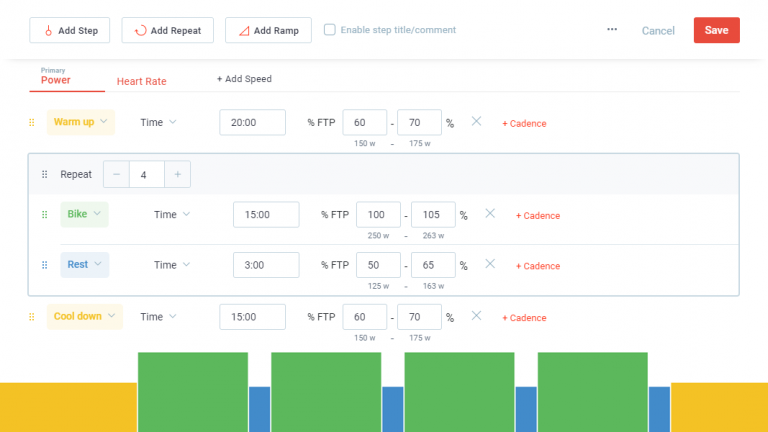 Coach Feature: Building & Using Structured Workouts with Multiple Target Types