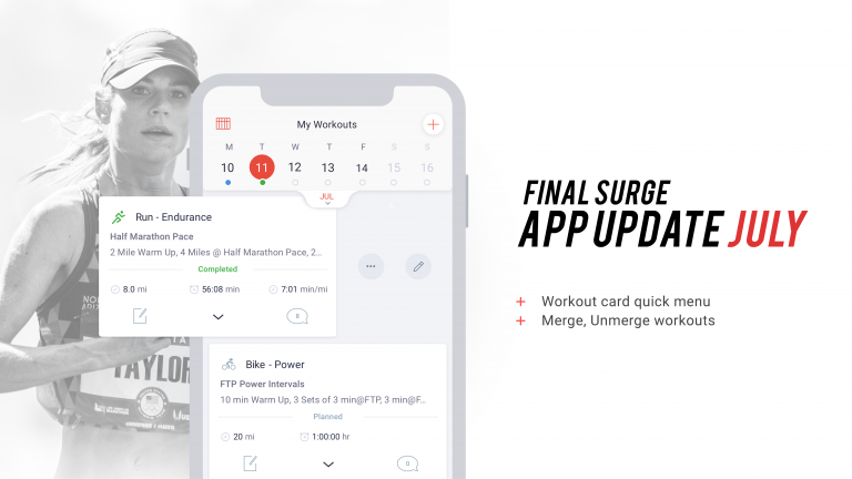 App Feature Updates: Quick Menu & Merge/Unmerge Workouts